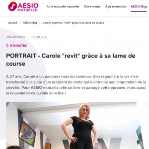 Article Aesio sur Carole